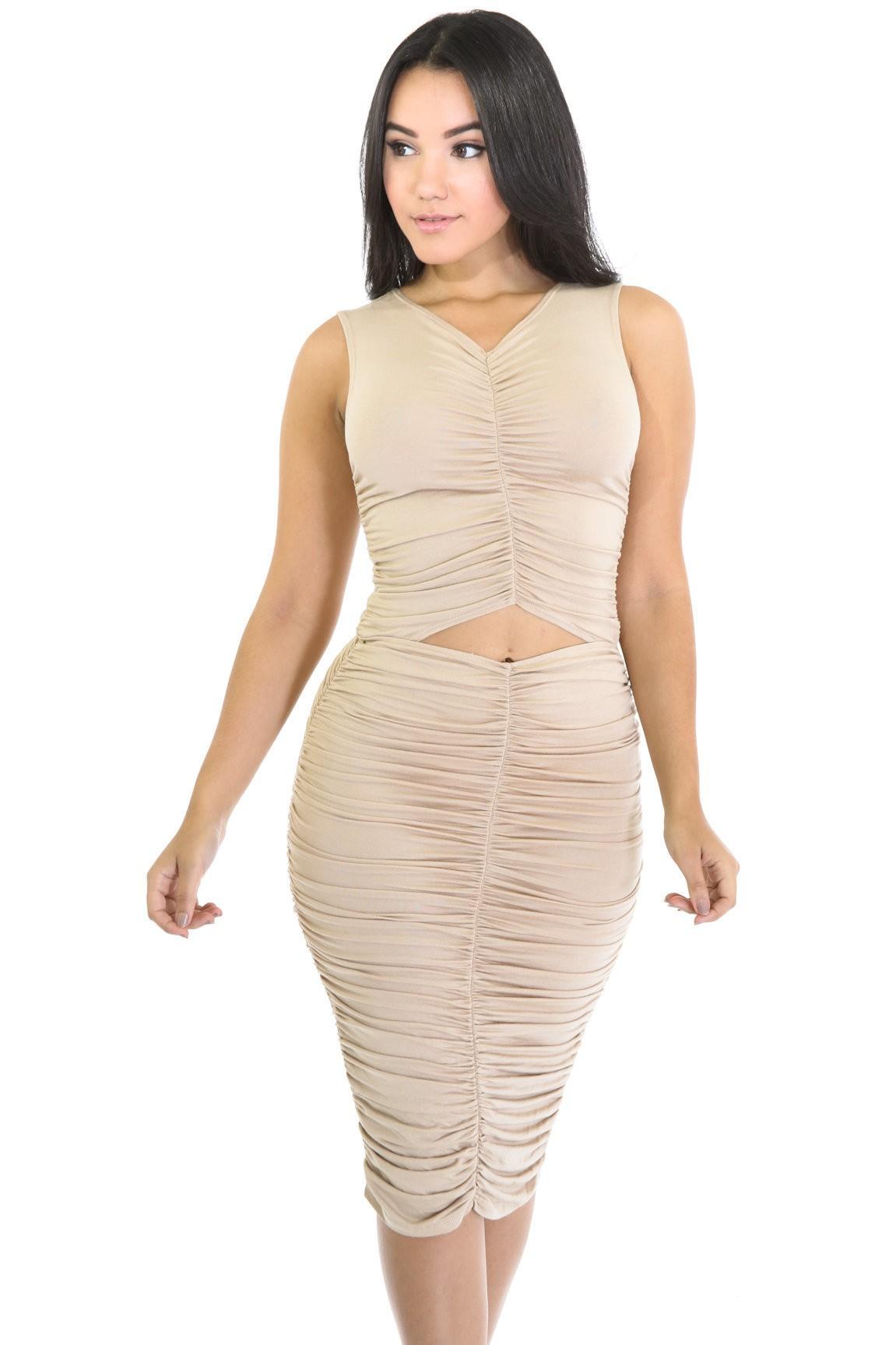 Elegant Drape Dress