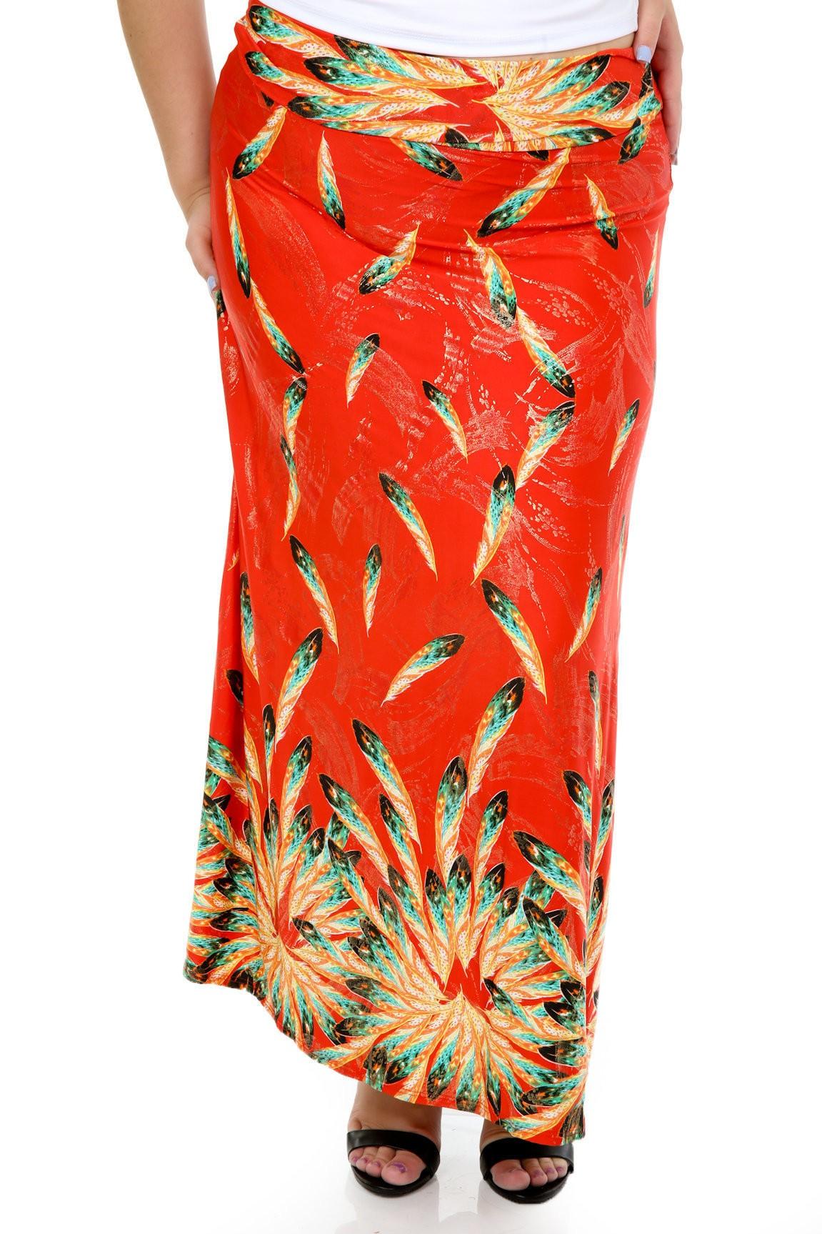 High Waisted Feather Skirt