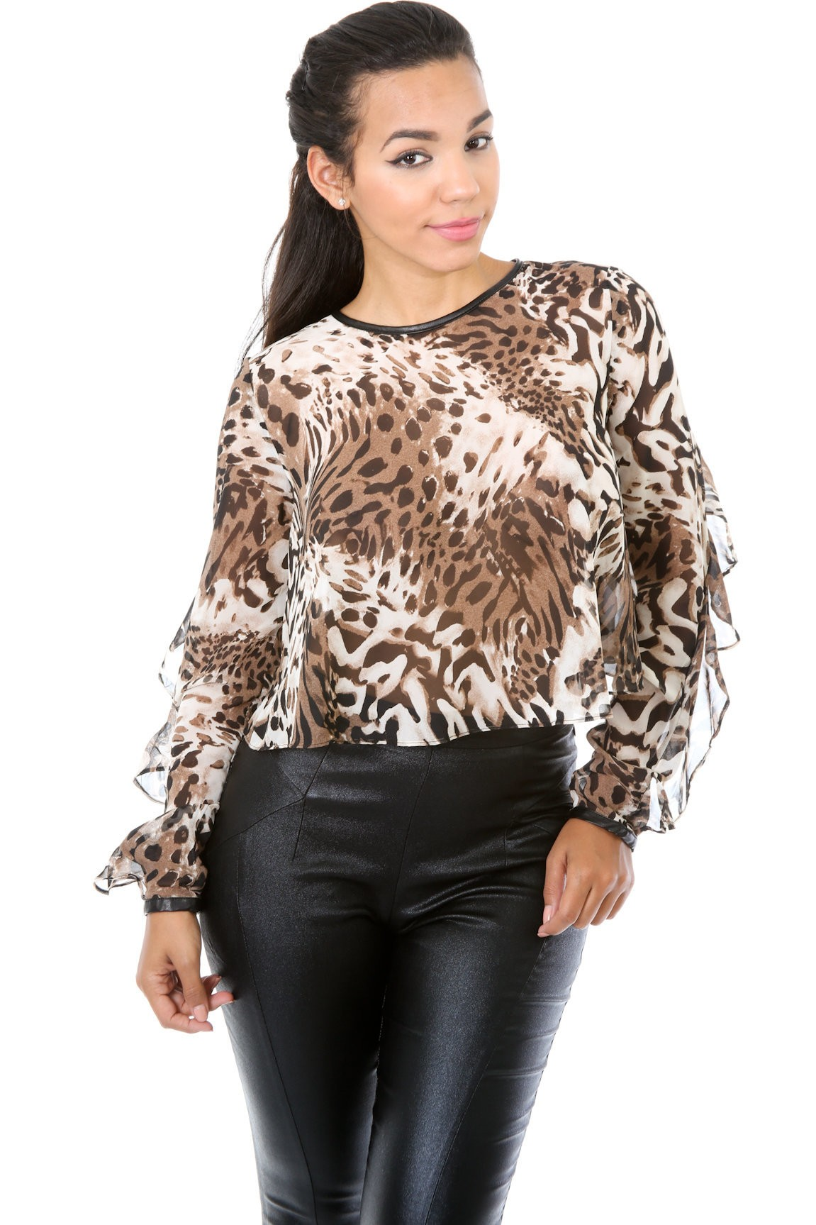 Leopard Madness Top