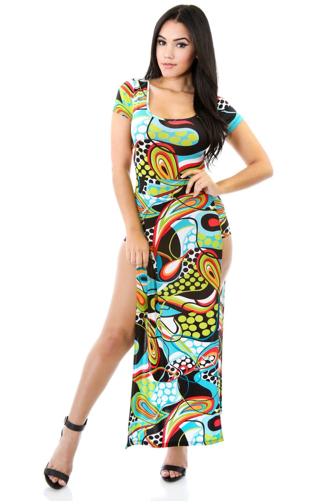 Twirl Double Split Dress