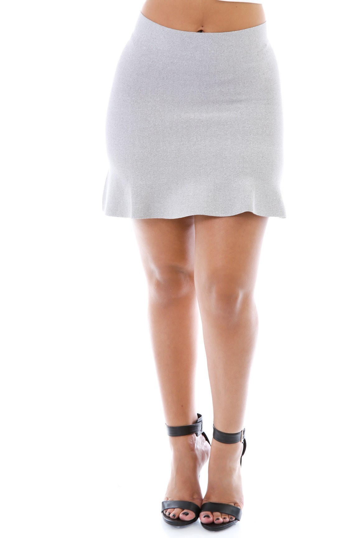 Stretchy Textured Skirt