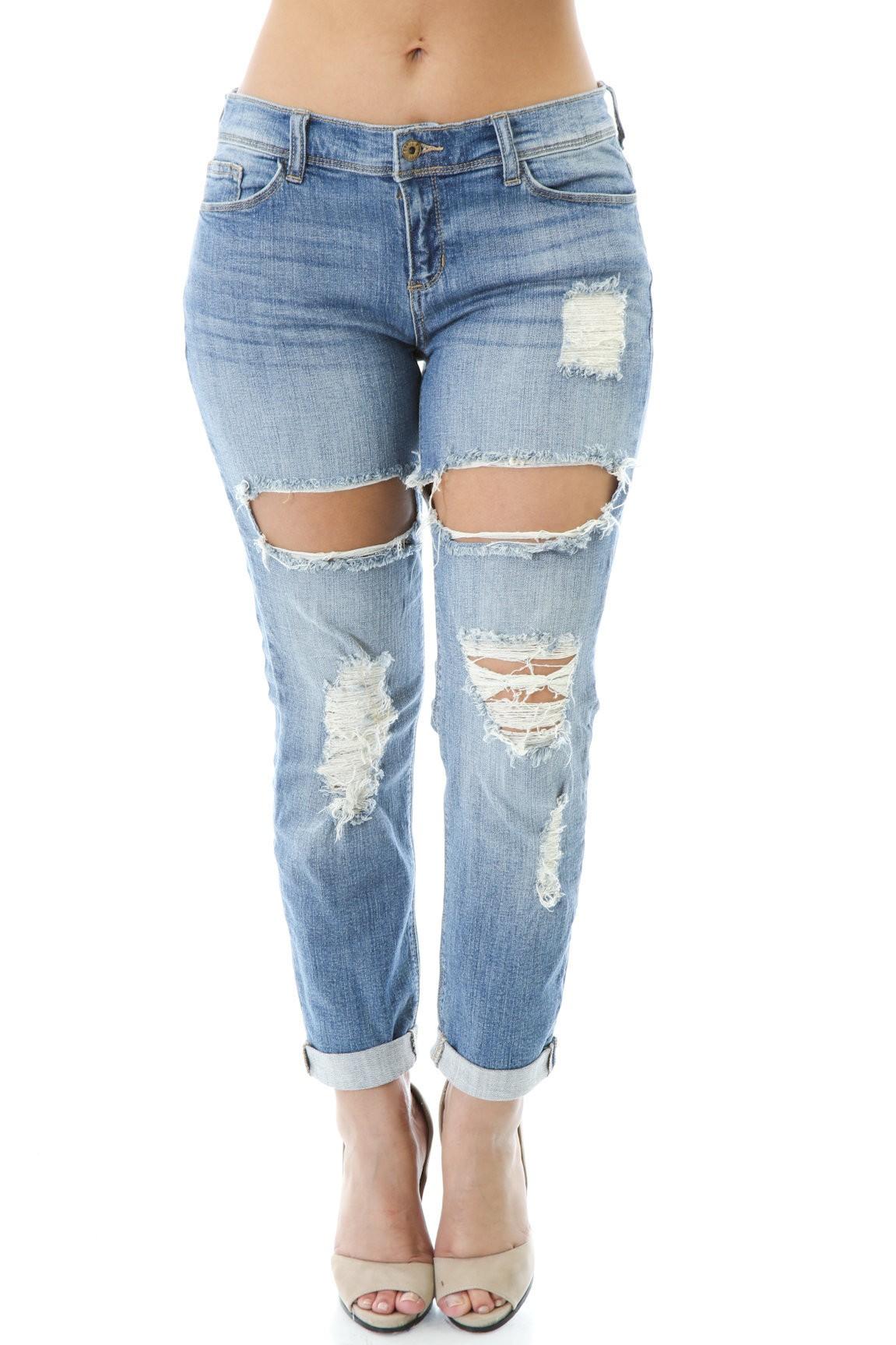 Distress Ways Jeans