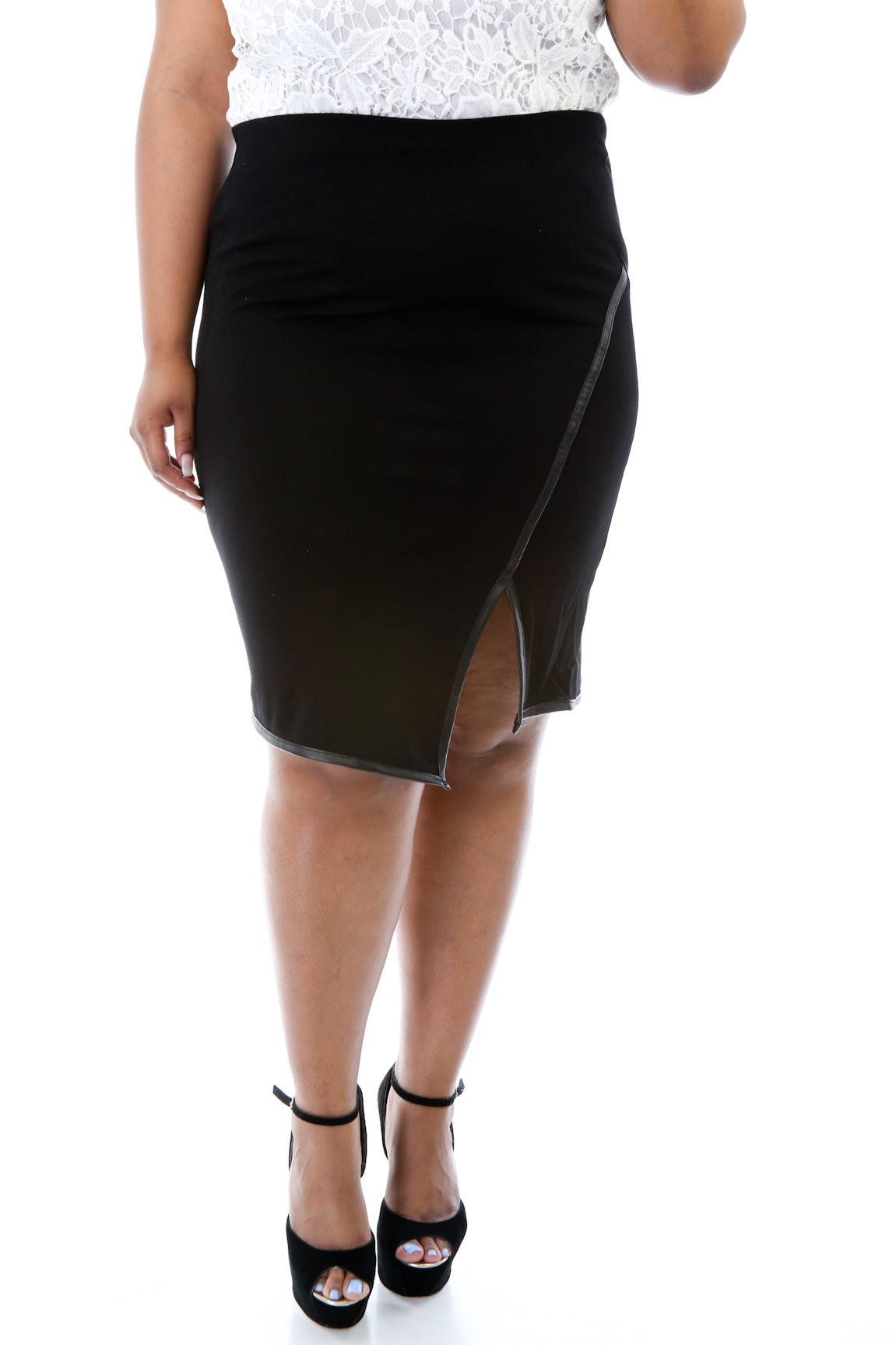 Raw Curve Skirt