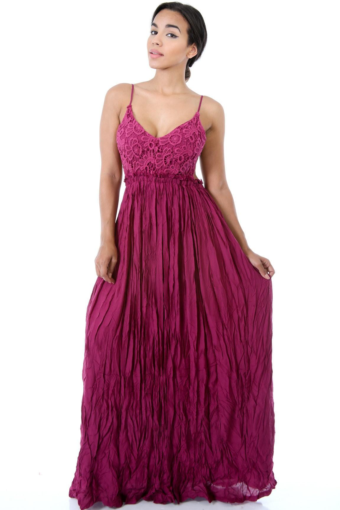 Fallen Angel Maxi Dress