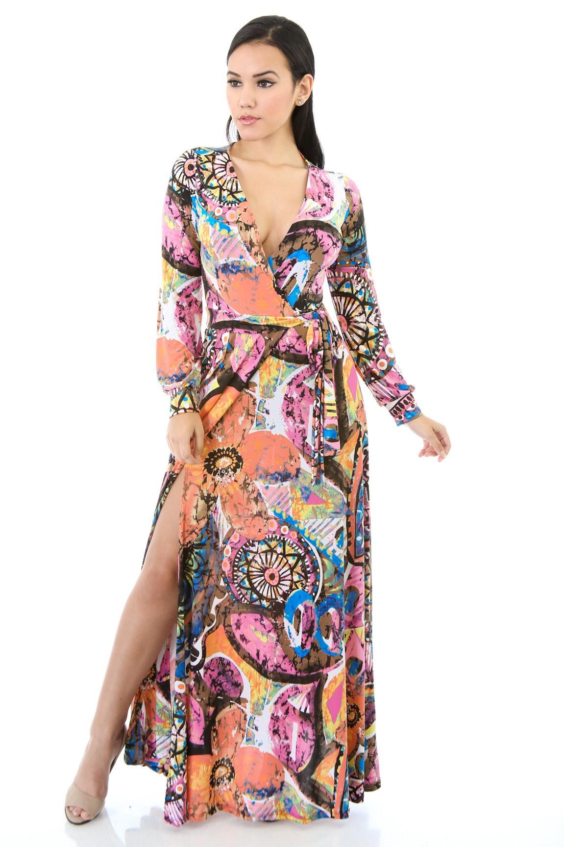 Art Mixture Maxi Dress