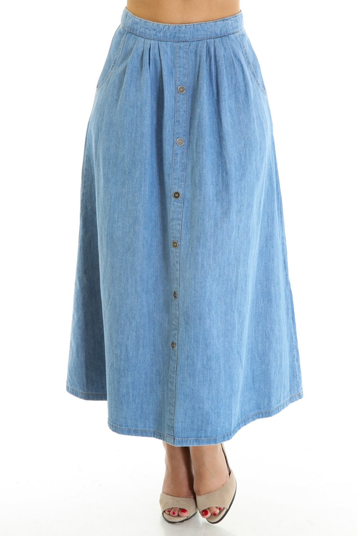 Denim Rage Maxi Skirt