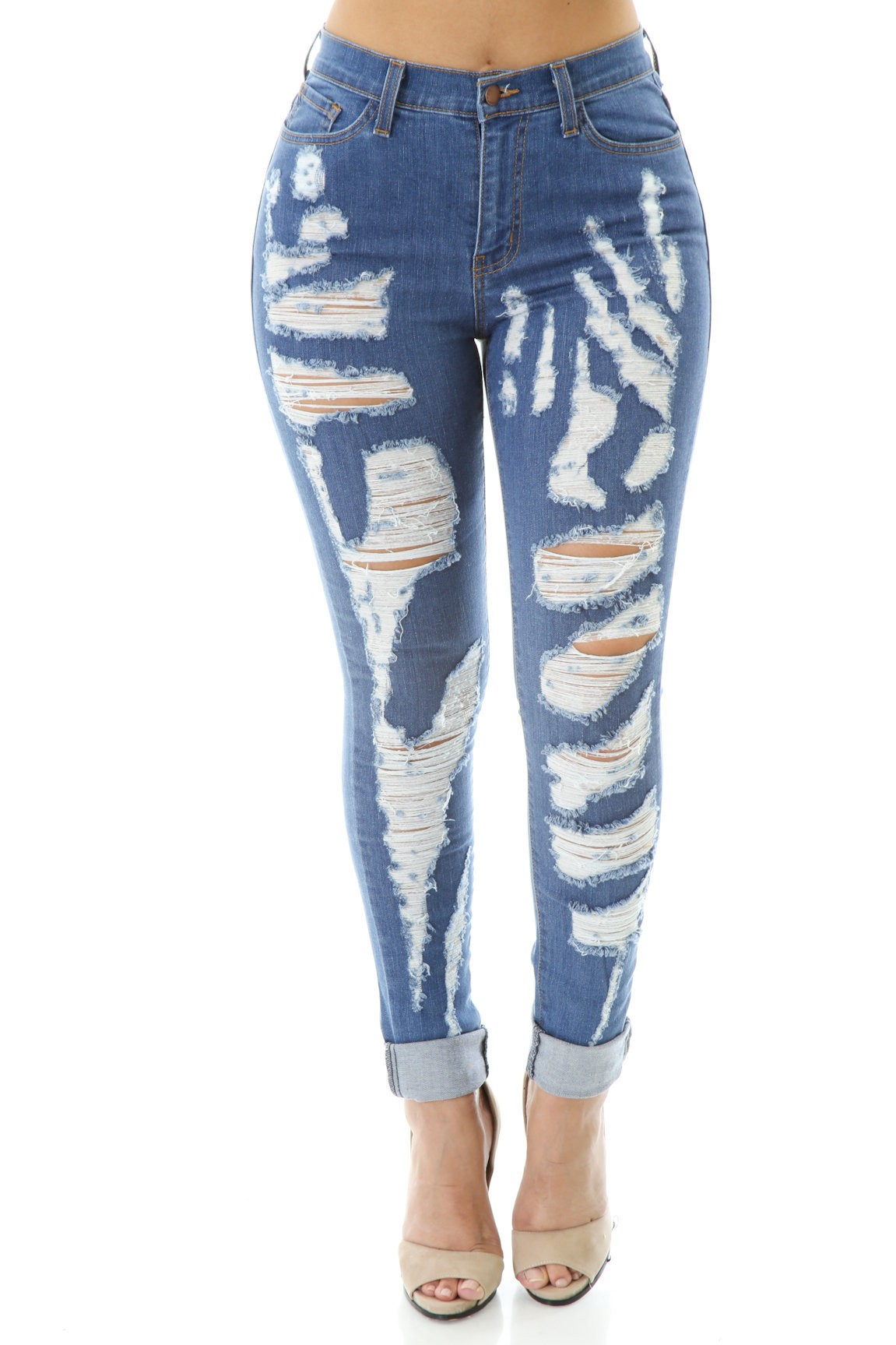 Major Distress Jeans