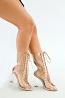 Bailey Tie Up Clear Heel Boots
