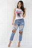 Knee Holes Denim Jeans