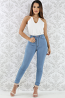 Light Stone Wash Skinny Jeans