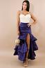 Swirled Flared Maxi Skirt