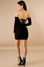 Corset Back Sheer Suede Dress