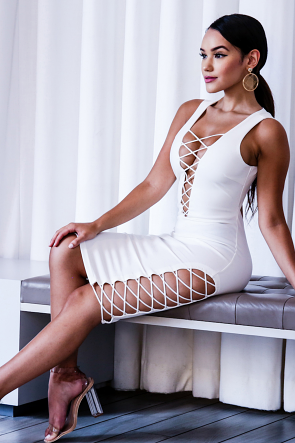 Exotic Caged Body-Con Dress