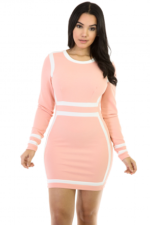 Long Sleeve Lady Mini Dress