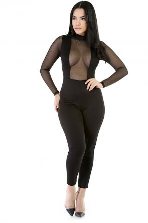 Sexy Diva Girl Long Sleeve Romper