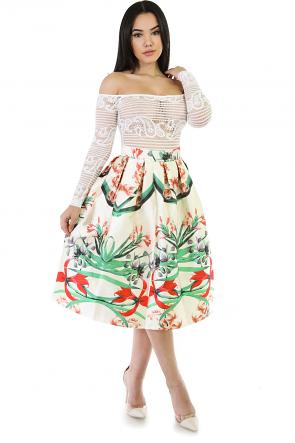 Garden Girl Flare Skirt
