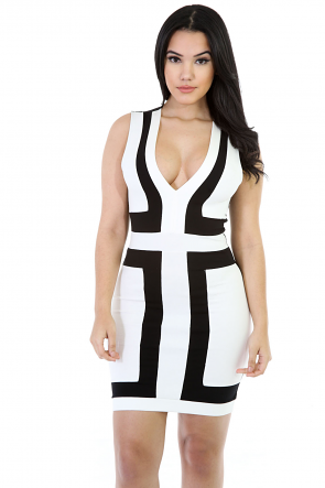 V-Cut Mini Fancy Dress