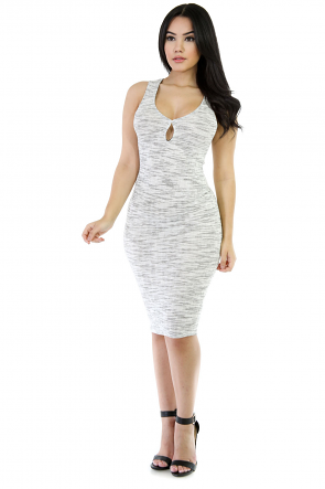 Sleeveless Stretchable Midi Dress