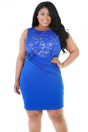 Lace Variation Midi Dress