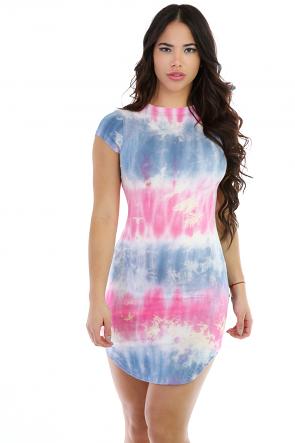 Suffering Tye-Dye Mini Dress