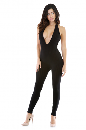Halter Neck Stretchy Jumpsuit