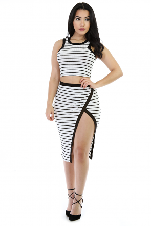 Striped Babe Skirt Set