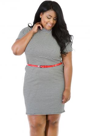 Stick To Stripes Mini Dress