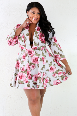 Rosy Is In Town Flare Mini Dress