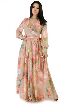 Throw Back Floral Maxi Dress