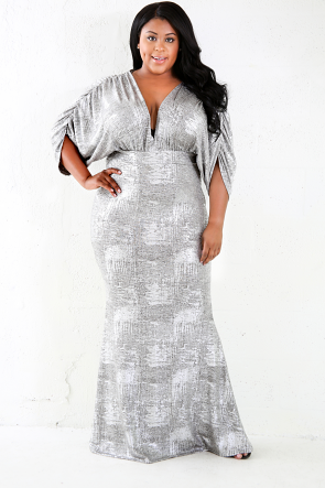 Silver Plate Maxi Mermaid Dress