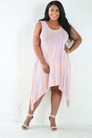 Bamboo Flare Tye-Dye Sleeveless Dress