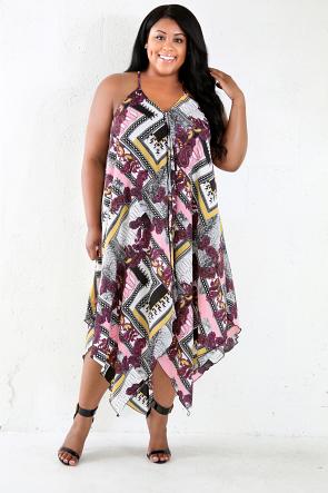 Ying-Yang Asymmetrical Dress