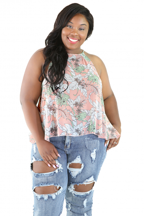 Multi Floral Cute Top
