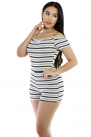 Halter-Neck-Stripped-Romper