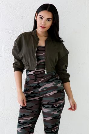 Stylish Bomber Chick Jacket