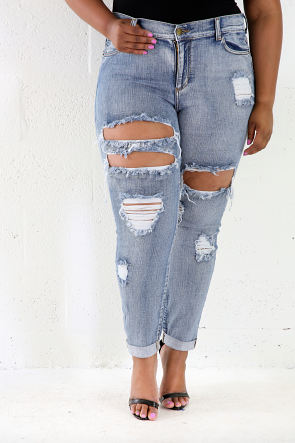 Fitted Denim Stretchy Jeans