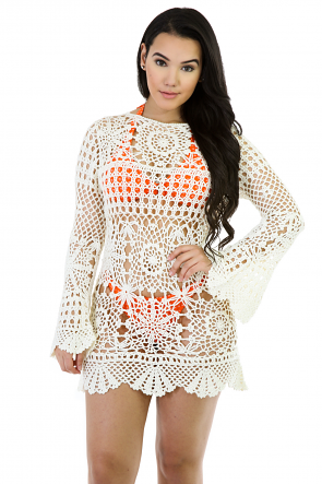 Crochet Over Drop Dress