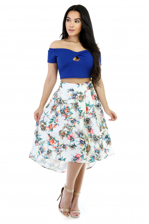 Colorful Expressed Flare Skirt