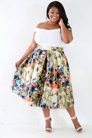 Tree Top Silk Skirt