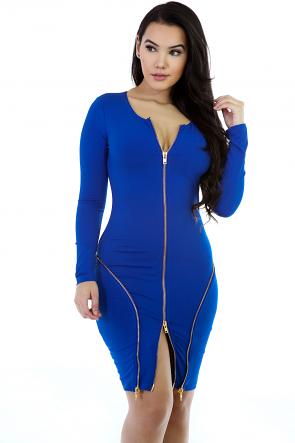 Triple Zip Dress