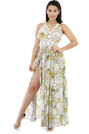 Stand By Crochet Maxi Dress