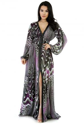 Dizzy Long Sleeve Maxi Dress