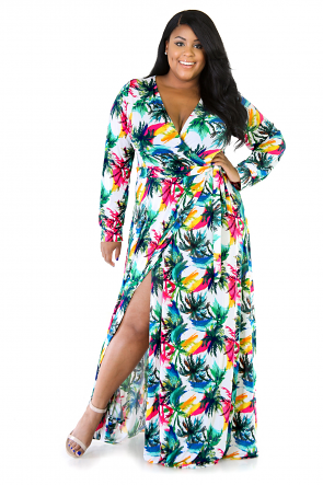 Jungle Girl Maxi Stretchy Dress