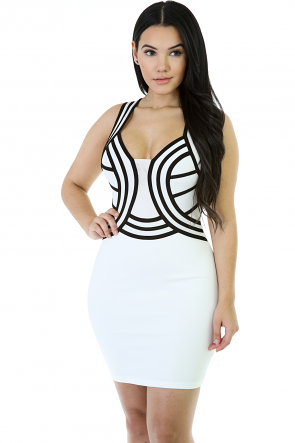 Mini Thick Starps Bodycon Dress