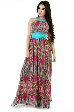Zig Zag Maxi Girl Dress