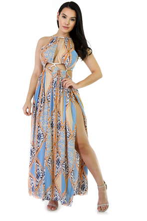 Ropped Exposed Maxi Dress