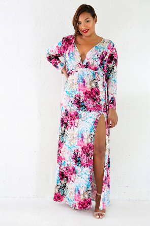 Late Bloom Floral Maxi Dress
