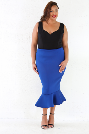 Phat Mermaid Midi Skirt