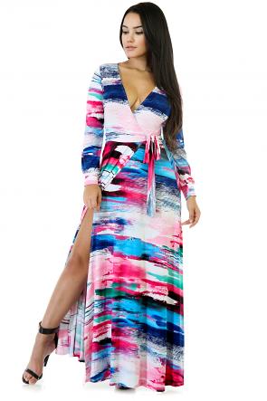 Multi Stripped Soft Maxi Dress