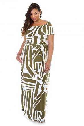 Maxi Flare Off-Shoulder Dress